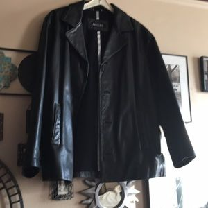 Jacket Guess black  leather